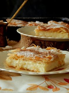 Food for thought: Σερραϊκή μπουγάτσα Bougatsa Recipe, Kitchen Stories, Greek Recipes, Food For Thought, Camembert Cheese, Food To Make, Sweet Tooth, Bakery, Brunch