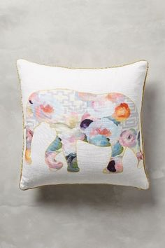 Collaged Fauna Pillow - by Patricia Vargas of Parima Studio for Anthropologie