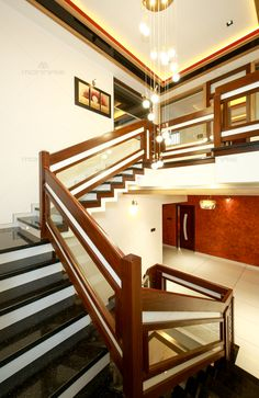 93 Stunning Modern Entrance Staircase Design Ideas - Home Sweet Staircase Design Modern, Home Stairs Design, Room Door Design, Door Design Interior, Modern Stairs, Kitchen Interior, Wooden Staircase Railing, Interior Stair Railing, Stair Railing Design