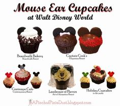 Mickey Mouse and Minnie Mouse Cupcakes of Walt Disney World