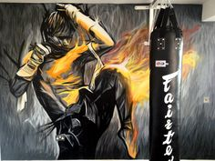 graffiti art mural buildings | Graffiti Life | Tony Jaa Gym Mural