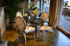 Showroom in High Point 2011  #upholstered dining chairs