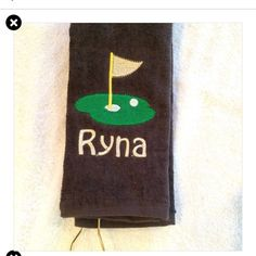I love these brown golf towels. Don't show dirt . Can be stitched in any colors. Towels are 11 x 17 with corner hook. Great for Easter and Fathers Day.