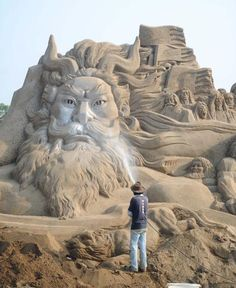 Sand Sculptures- cannot wait for the TI Sand Sculptures later this month
