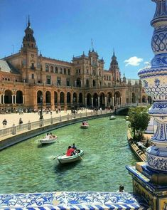 Sevilla, Seville, Spain - there's row boats in seville too! Places Around The World, Travel Around The World, Around The Worlds, Places To Travel, Places To Visit, Voyage Europe, European Destination, Spain And Portugal, Spain Travel