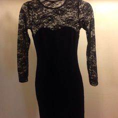 H&M Black Lace Dress Like new, only worn once ....(The more you buy, the more I lower my prices so bundle & save!!) H&M Dresses