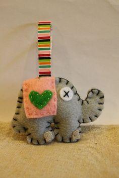 Love felt elephant medium keychain by inajuicebox on Etsy, $5.00