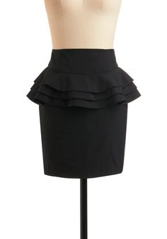MUST make a skirt with a peplum probably a single though. Three layers= not very flattering.
