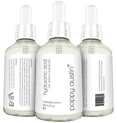 Poppy Austin Hyaluronic Acid Serum for Skin with Vitamin C Green Tea and Jojoba Oil 2 fl oz *** To view further for this item, visit the image link.