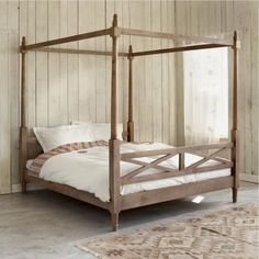 Canopy bed wood