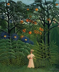 Woman Walking in an Exotic Forest - Henri Rousseau, 1905