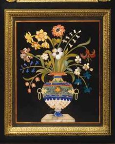 A GEORGE IV ORMOLU-MOUNTED EBONY AND PIETRA DURA SIDE CABINET BY ROBERT HUME, CIRCA 1815 - 20, THE PIETRA DURA PANELS LATE 17TH AND EARLY 19TH CENTURY, SUPPLIED BY GREGORIO FRANCHI