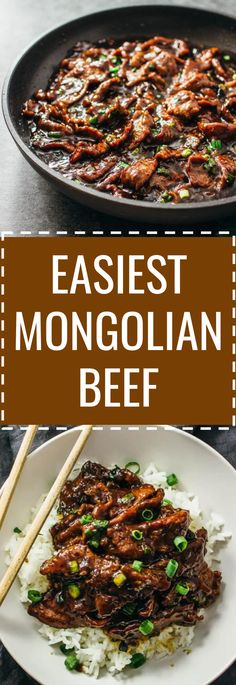 Best Mongolian beef: easy, authentic, and fast 15-minute stir-fry recipe with tender beef slices and a bold sticky sauce! spicy, steamed rice, noodles, crockpot, pf changs, tacos, healthy, instant pot, ramen, mongolian beef and broccoli, paleo, crispy, easy, simple, recipe, dinner, sauce, low carb, bowl, authentic, gluten free, damn delicious, weight watchers, keto, marinade, 30 minute, fast, 15 minute, pei wei, best, instapot, tip hero, delish, lo mein, sides, panda express, chinese