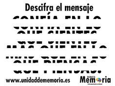 UNIDAD DE MEMORIA ENTRENAMIENTO CEREBRAL: Descifra el mensaje