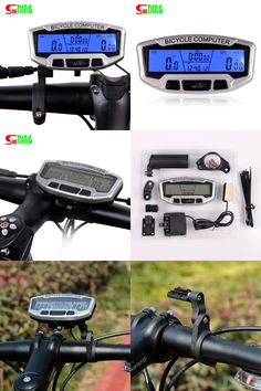 [Visit to Buy] Bicycle Speedometer Wired Computer Stopwach Odometer LCD Screen Blue Backlight Auto Clear Sunding SD-558A #Advertisement