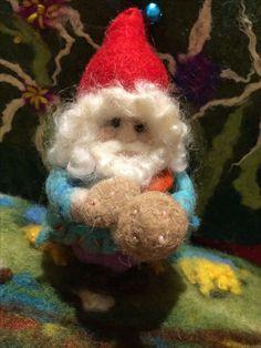 Fiber Art Jewelry, Jewelry Art, Gnomes, Needle Felting, Christmas Ornaments, Holiday Decor, Home Decor, Xmas Ornaments, Homemade Home Decor