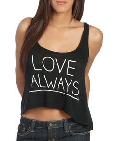 Love Always Tank from WetSeal.com Honeymoon attire