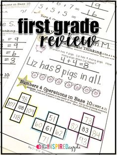 Are you looking for a great way to review reading foundational and literacy and math skills with your first grade students? This review packet is full of activities that are just PERFECT for helping you do just that! There are twenty days worth of review, that help with everything from phonics to word recognition to phonemic awareness to writing and more! Plus, you can try a sample day for FREE!