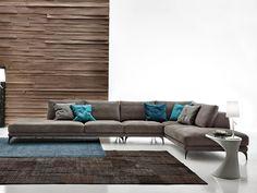 Divano angolare componibile in ecopelle Foster leather by Ditre Italia | design Stefano Spessotto, Lorella Agnoletto