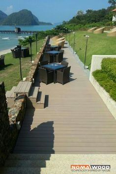 Project with our NOMAWOOD®  System DB1 Steppe in Indonesia #decking