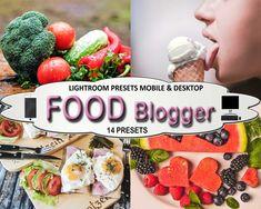 Food Blogger Mobile and Desktop Lightroom Presets, Blogger Style, Instagram Presets, Warm Clean Bright Vibrant Presets Style Instagram, Blogger Style, Food Photo, Lightroom Presets, Desktop, Vibrant, Bright, Warm, Cooking