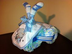 Diaper Tricycle/ Elephant Rocker by KeepsakeCakes on Etsy, $45.00