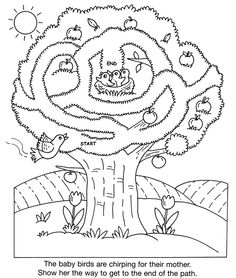 inkspired musings: Robins Nesting Mickey Coloring Pages, Bible Coloring Pages, Mazes For Kids, Worksheets For Kids, Preschool Workbooks, Preschool Activities, Maze Worksheet, Kindergarten, Road Trip Activities
