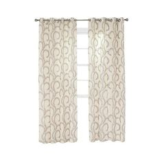 Yorkshire Home Andrea Embroidered Curtain Panel - Chocolate (33 CAD) ❤ liked on Polyvore featuring home, home decor, window treatments, curtains, charcoal heather, grommet window curtains, target curtains, grommet valance and embroidered window panels