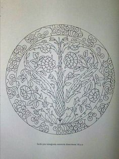 Floral mandala - adult coloring page Mosaic Patterns, Craft Patterns, Pattern Art, Embroidery Letters, Embroidery Motifs, Embroidery Designs, Turkish Design, Turkish Art, Turkish Pattern