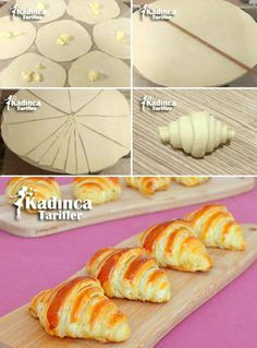 You are guaranteed to love these Fancy Bread Roll Shapes and we have a quick video to show you how to whip up 10 of the best Bakery techniques you'll love. Donut Recipes, Baking Recipes, Dessert Recipes, Bread Recipes, Pasta Recipes, Cookie Recipes, Puff Recipe, Puff Pastry Recipes, Savory Pastry