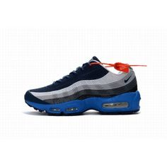 sports shoes 9982b 149c5 Achat Digne Homme Nike Air Max 95 Dark Bleu Blanc Wholesale En Ligne   NikeAirMax