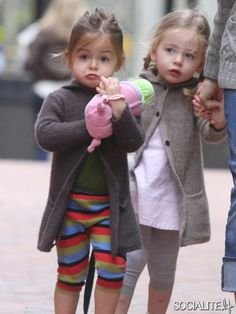 Sarah Jessica Parker takes a stroll with twins Tabitha and Marion