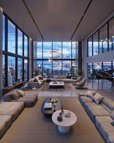Home Building Design, Home Room Design, Dream Home Design, Modern House Design, Home Interior Design, Apartamento New York, Luxury Homes Dream Houses, Luxury Apartments, House Rooms