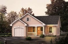 Houseplan 5633-00119 Cottage Style House Plans, Cottage Floor Plans, Cottage Style Homes, Cottage House Plans, Country House Plans, Cottage Design, House Floor Plans, House Design, Garage House Plans