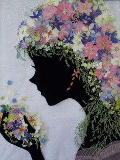 シルエット - さくら 吹雪の 押し花アトリエ プチ フルール Dried And Pressed Flowers, Pressed Flower Art, Dried Flowers, Flower Frame, Flower Wall, Paper Art, Paper Crafts, Fleurs Diy, Deco Nature
