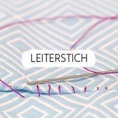 Leiterstich: Wie Du Wendeöffnungen sauber und schnell mit einem ganz einfachem Stich schließen kannst zeigen wir Dir in der folgenden Anleitung.
