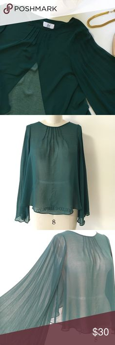 DV sheer top sz s Super cute sheet top good condition. ! DV by Dolce Vita Tops Blouses