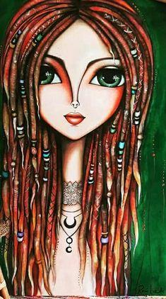 Art Journal Inspiration, Painting Inspiration, Arte Pop, Pretty Art, Whimsical Art, Face Art, Mixed Media Art, Les Oeuvres, Art Girl