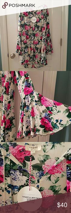 Adorable Umgee floral dress, S New with tags, Umgee brand, floral mini dress with bell sleeves. umgee  Dresses Mini