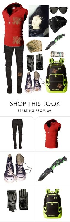 """""""Hunter"""" by galaxygal123 ❤ liked on Polyvore featuring Balmain, Converse, Gucci, Under Armour, Yves Saint Laurent, men's fashion and menswear"""