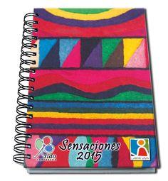 Agenda 2015 Laberinto - Sensaciones - Arte Down aplicado en las Agendas Solidarias Labor Viva Labor, Labyrinths, Day Planners, Appliques, Art