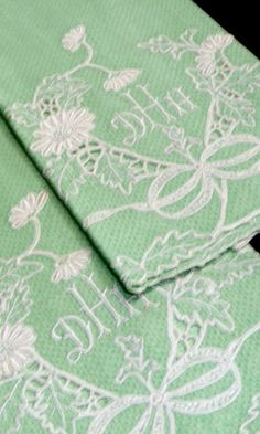 mint linen guest towels