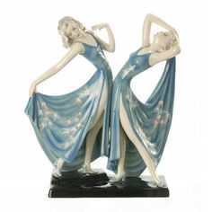 A Goldscheider figure group of two dancers 1938 Sold for AU$ 5,400 inc. premium