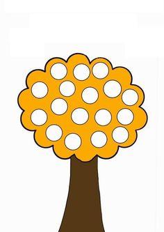 Оранжевое дерево - razukrashki.com September Activities, Autumn Activities, Activities For Kids, Toddler Preschool, Toddler Crafts, Bricolage Halloween, Do A Dot, Classroom Crafts, Autumn Theme
