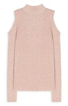 12€ Primark - Jersey de hombros descubiertos rosa palo