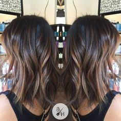 balayage brunette for medium hair