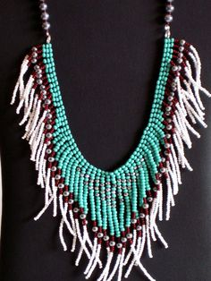 Native American necklace in turquoise by MontanaTreasuresbyMJ