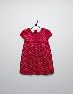 Zara polka dot dress with a pleated ribbon