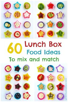 60 Kids Lunch Box Ideas to Mix and Match! 60 Lunchbox food ideas to mix and match – easy healthy packed lunch ideas for kids lunch boxes and bento boxes to get you ready for back to school Kids Packed Lunch, Healthy Lunches For Work, Healthy Kids, Bento Box Lunch For Kids, Bento Kids, Healthy Food, Lunch Box Recipes, Baby Food Recipes, Back To School Lunch Ideas