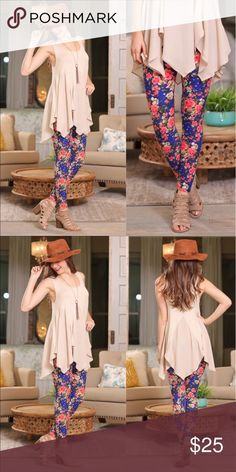 5f5c79b80 Floral Print Leggings 92% Polyester 8% Spandex Pants Leggings Skirt Leggings